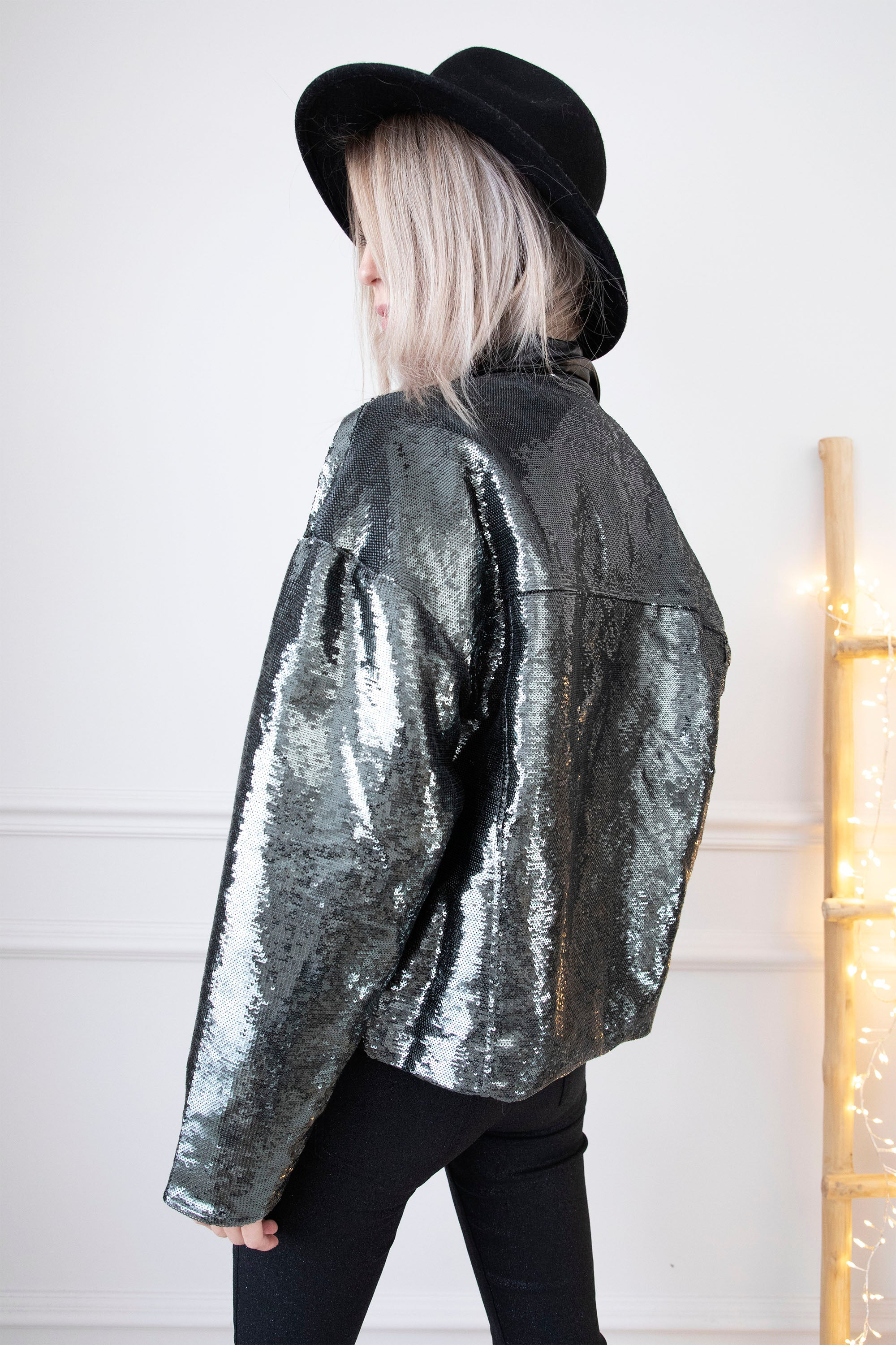 Paillettes Overload Grey/Green - Jacket