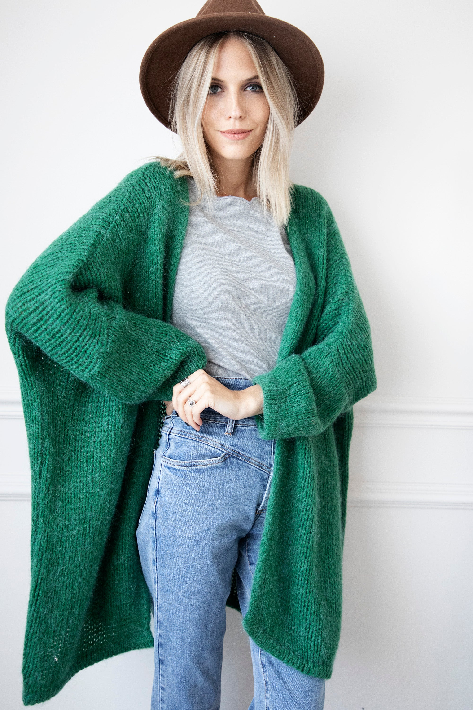 Extra Long & Comfy Dark Green - Bernadette