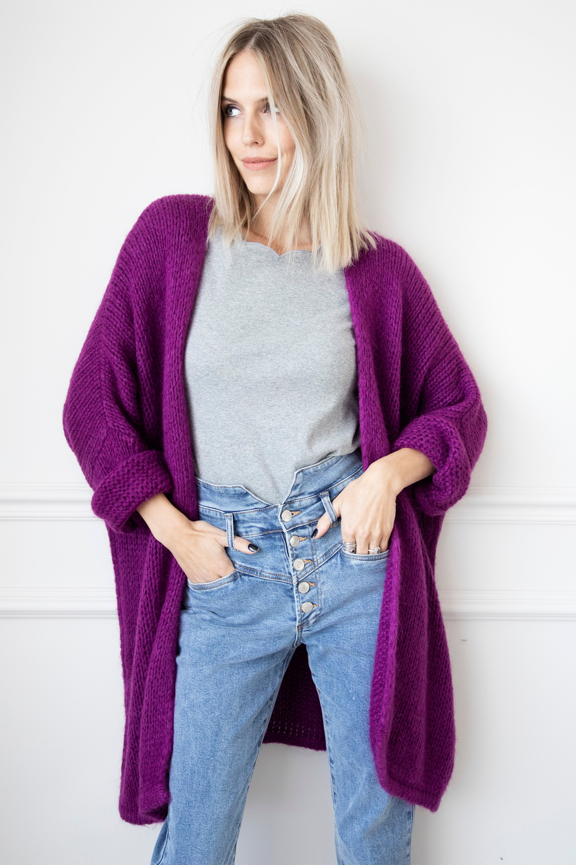 Extra Long & Comfy Hot Purple - Bernadette