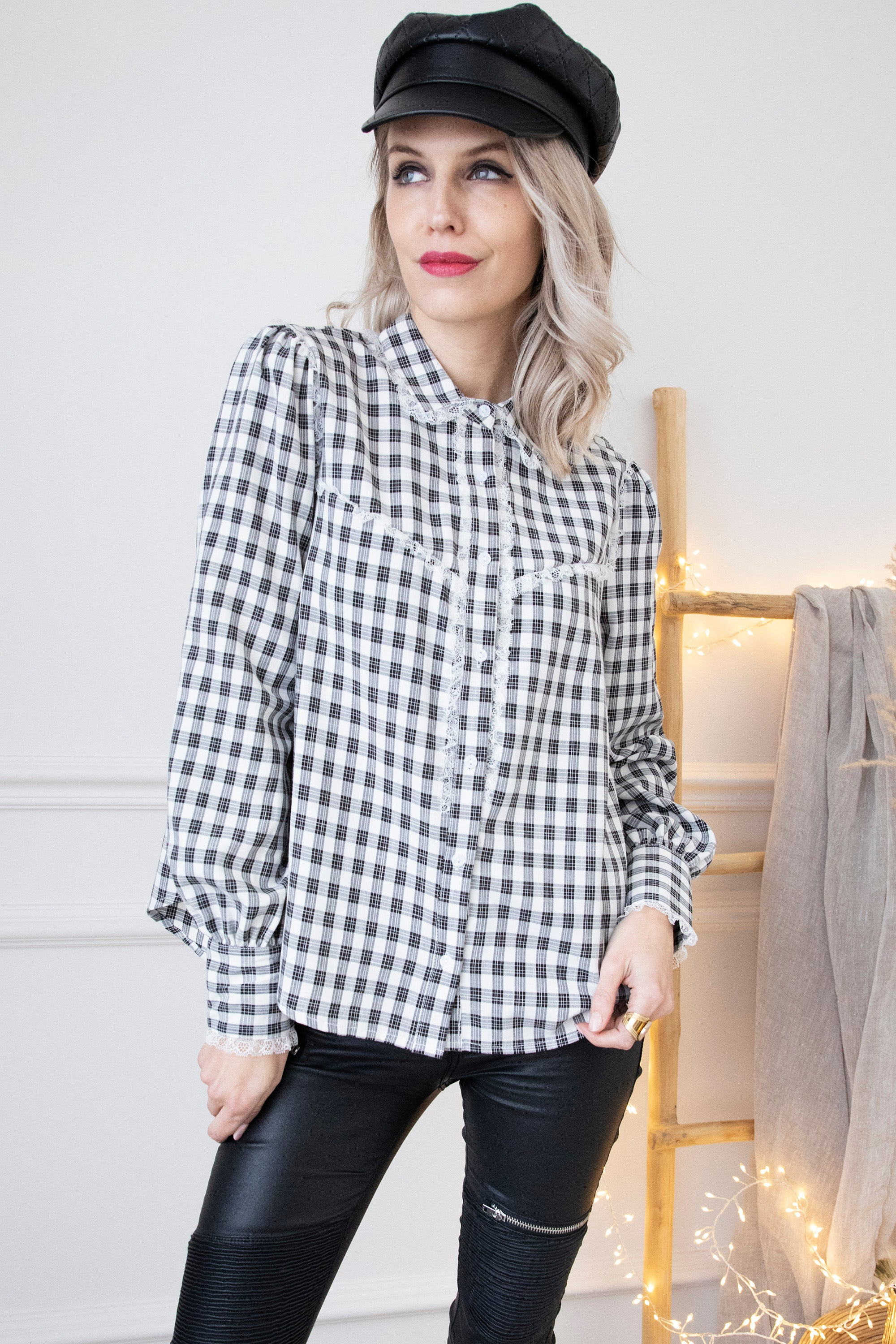 Check Me In Black & White - Blouse