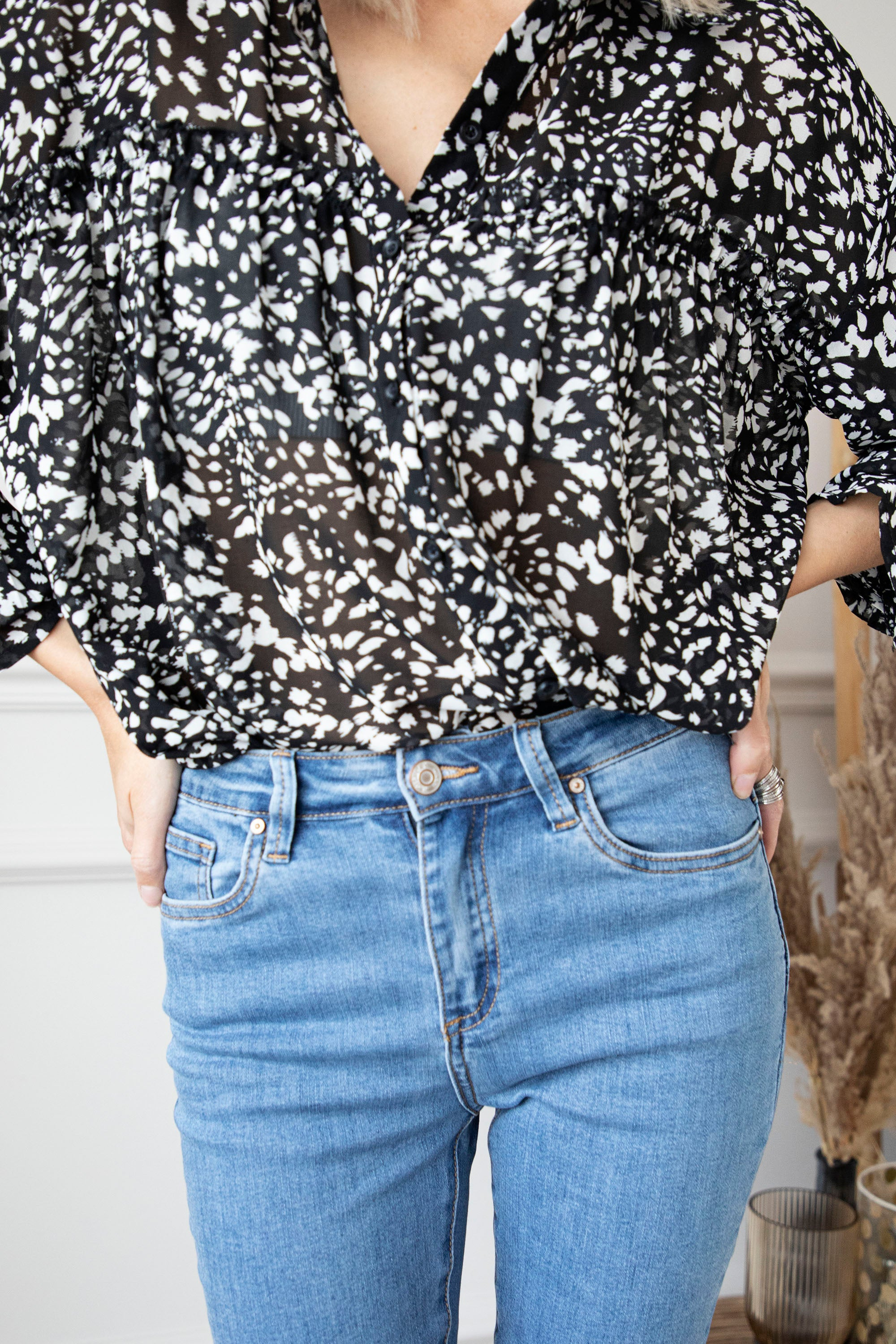 Take The Spot Black - Blouse