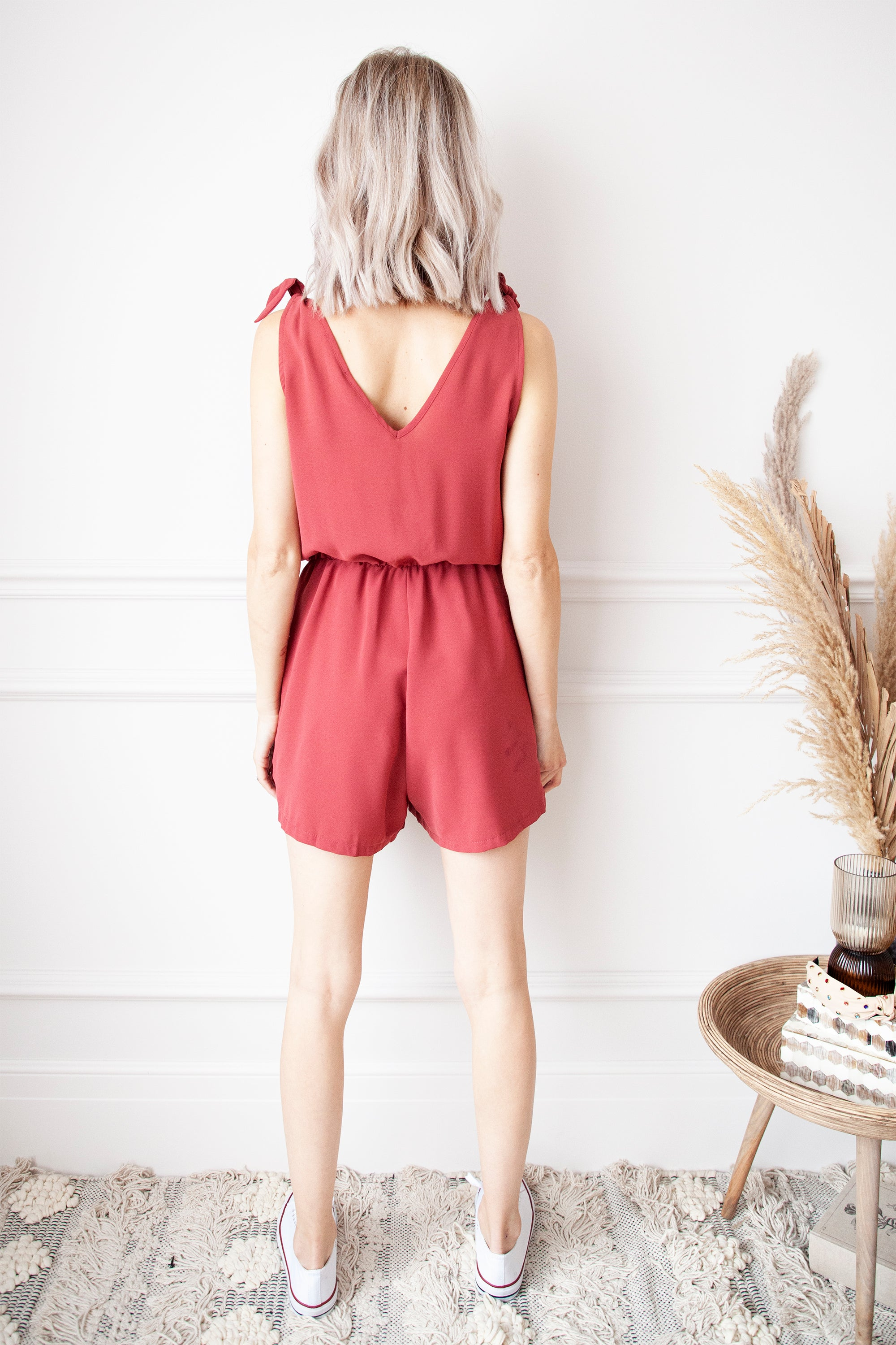Smooth Ribbon Raspberry - Playsuit