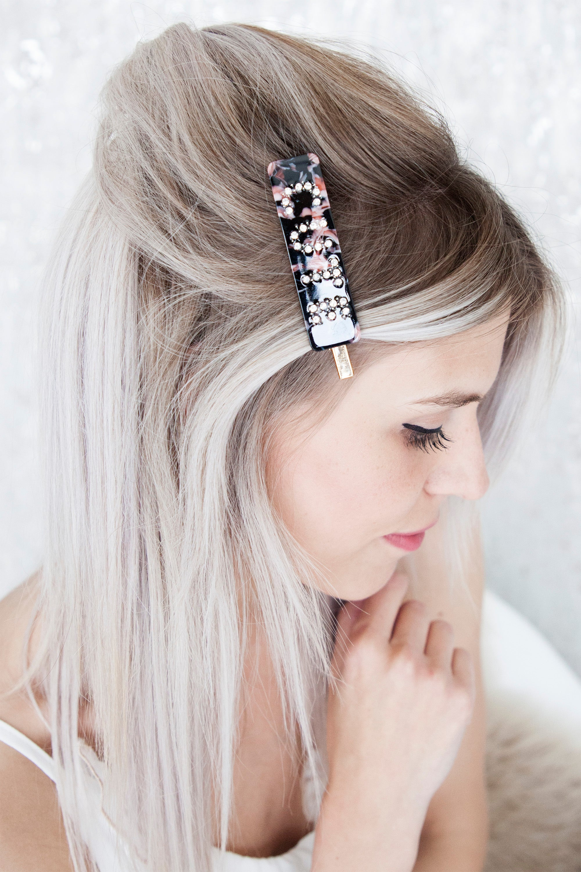 Cute Pink/Black - Hair Clip