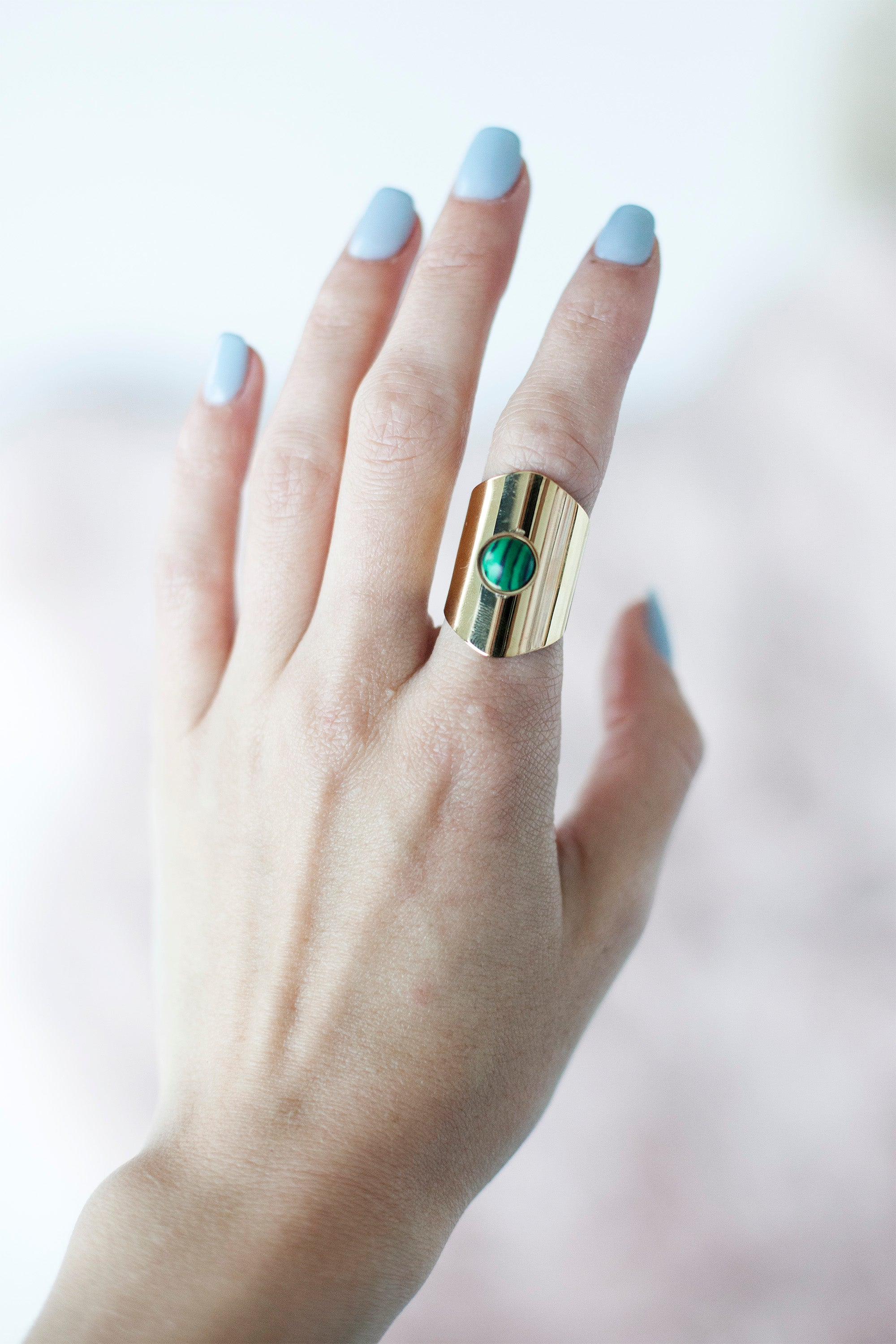 Put A Ring On It Gold/Green - Ring