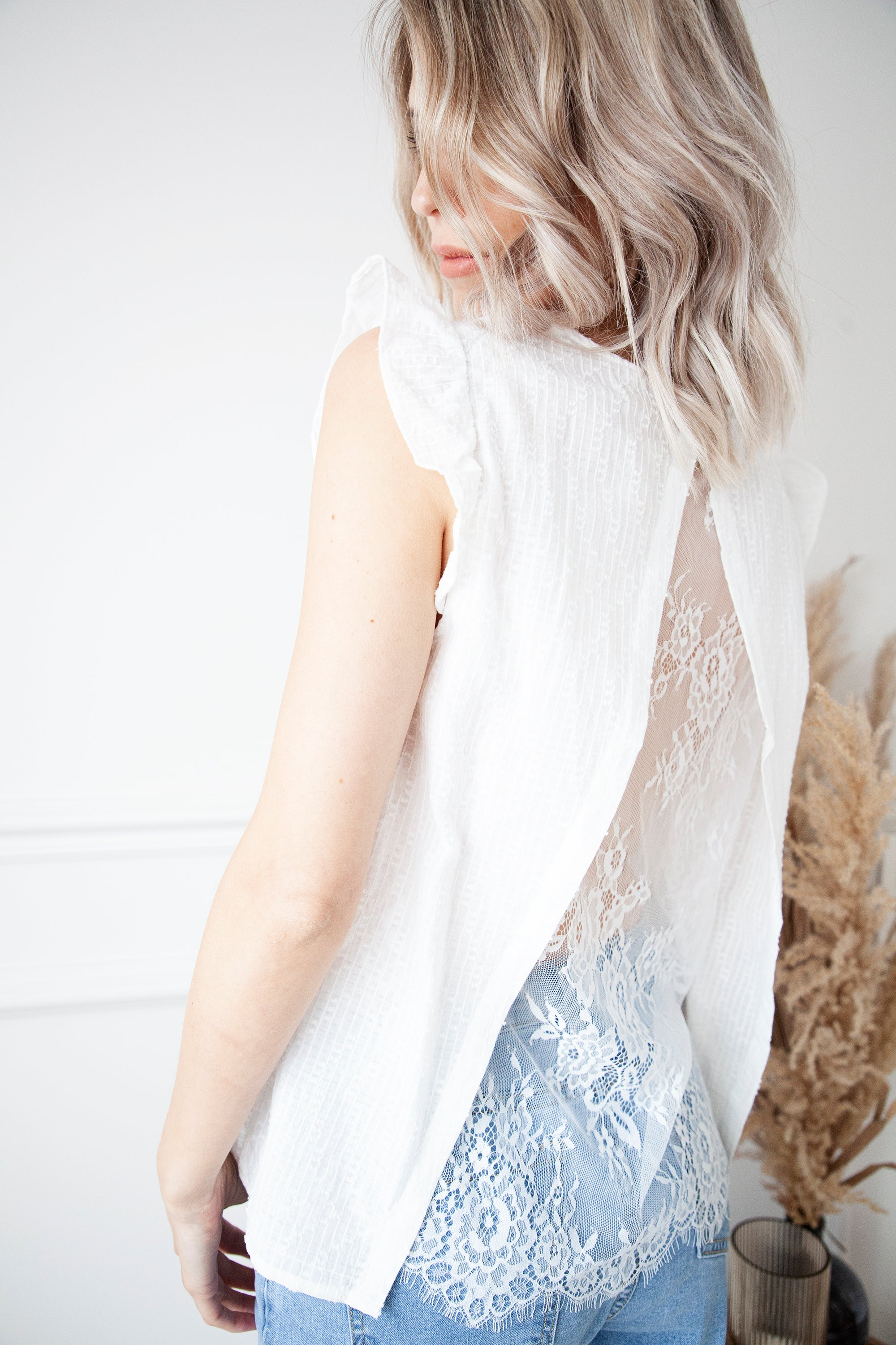 Back To Lace White - Top