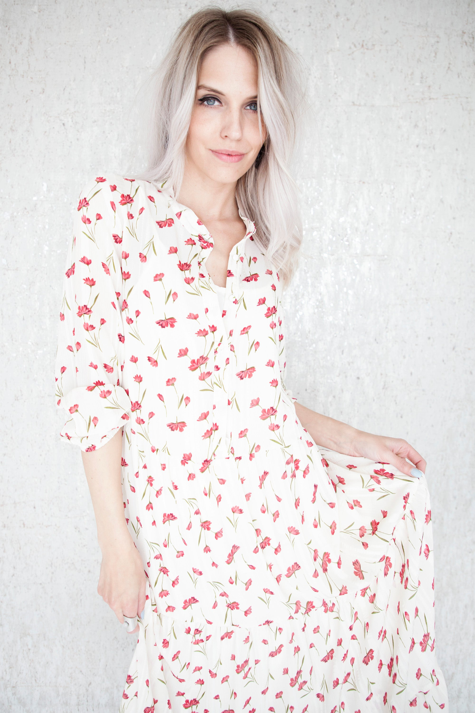 e077263686ea2f HAPPY FLOWERS CREAMY RED - MAXI JURK – ellemilla