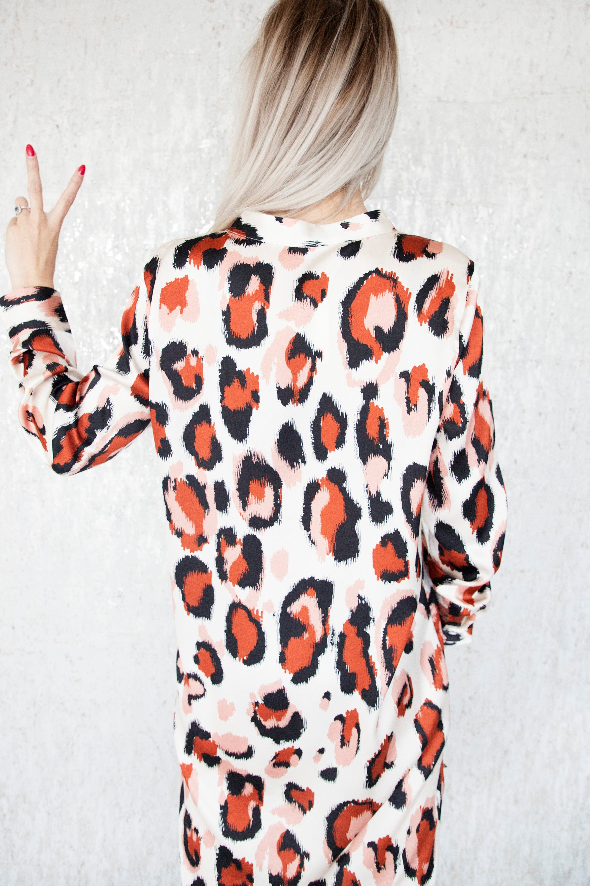 Leopard Queen Cream/Rusty - Jurk