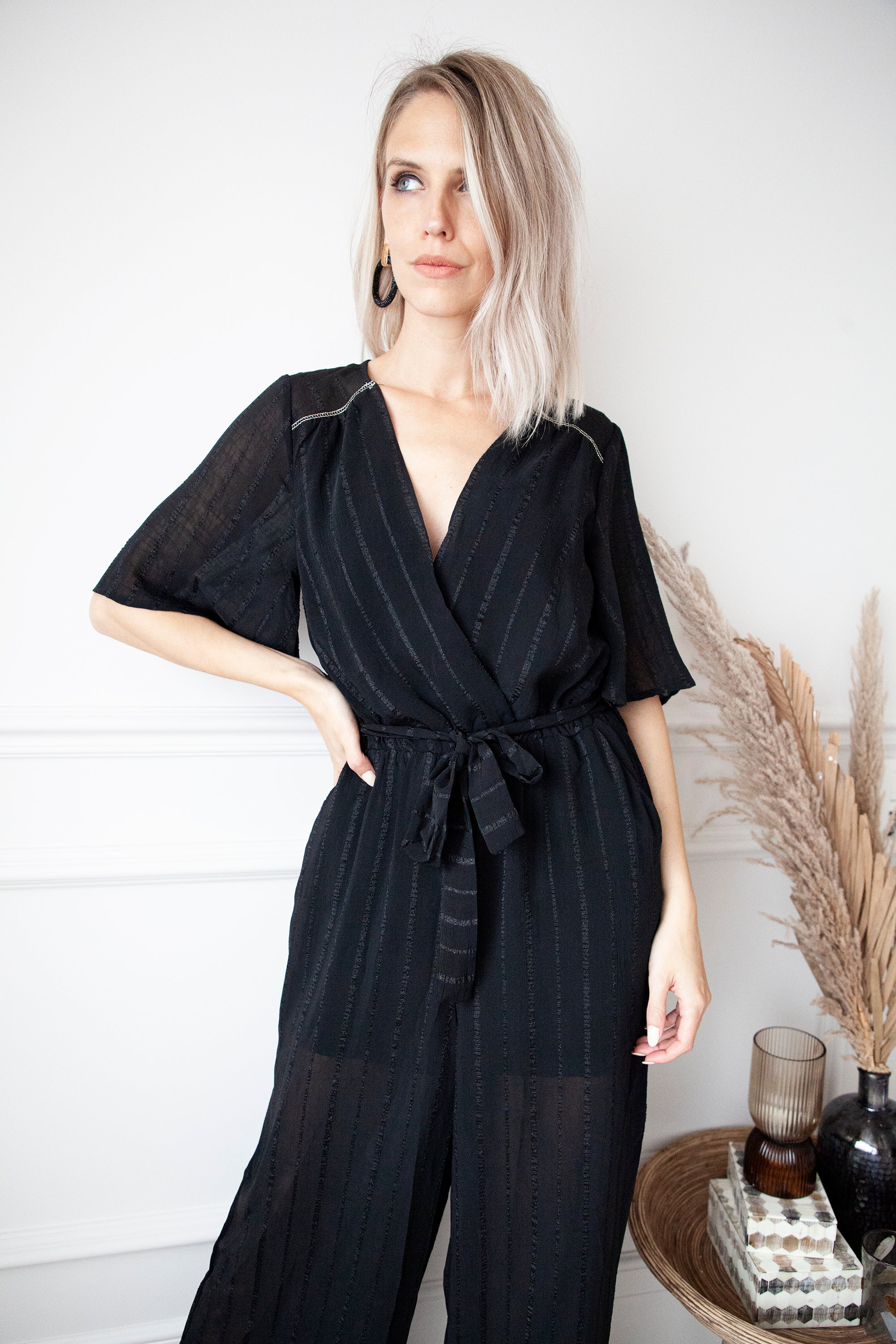 Take Me On A Date Black - Jumpsuit