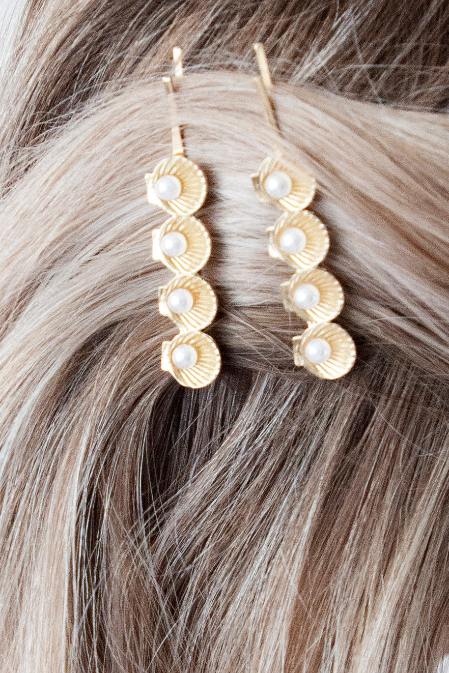 Little Oyster Pearls Gold - Hair Pins