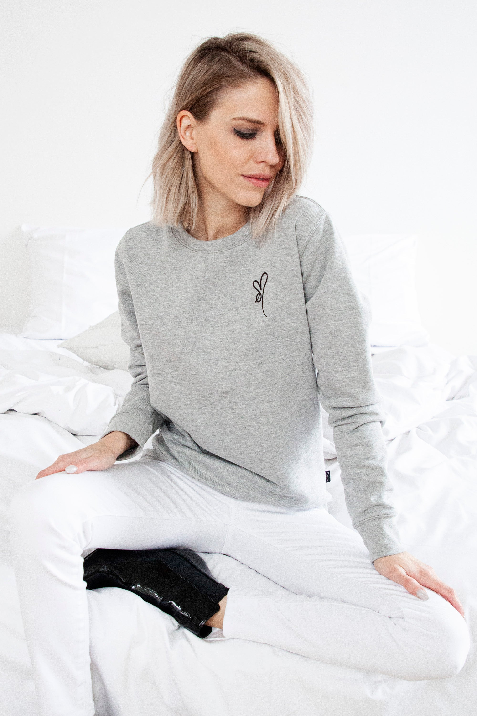 ellemilla ღ CHARLY in Grey/Black - Sweater
