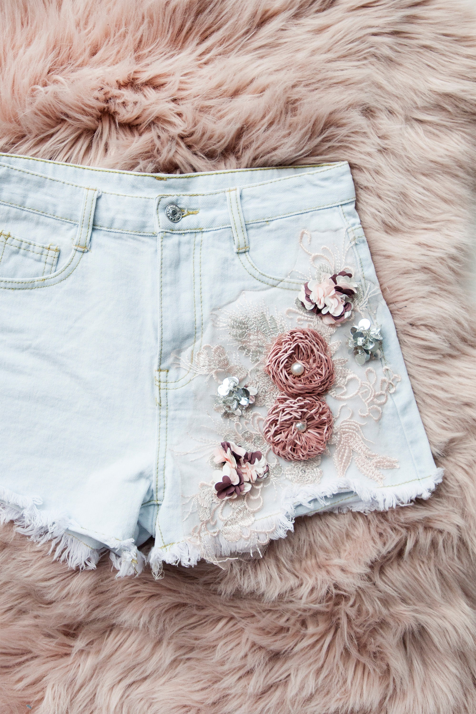 Girlflower Light Jeans - Short
