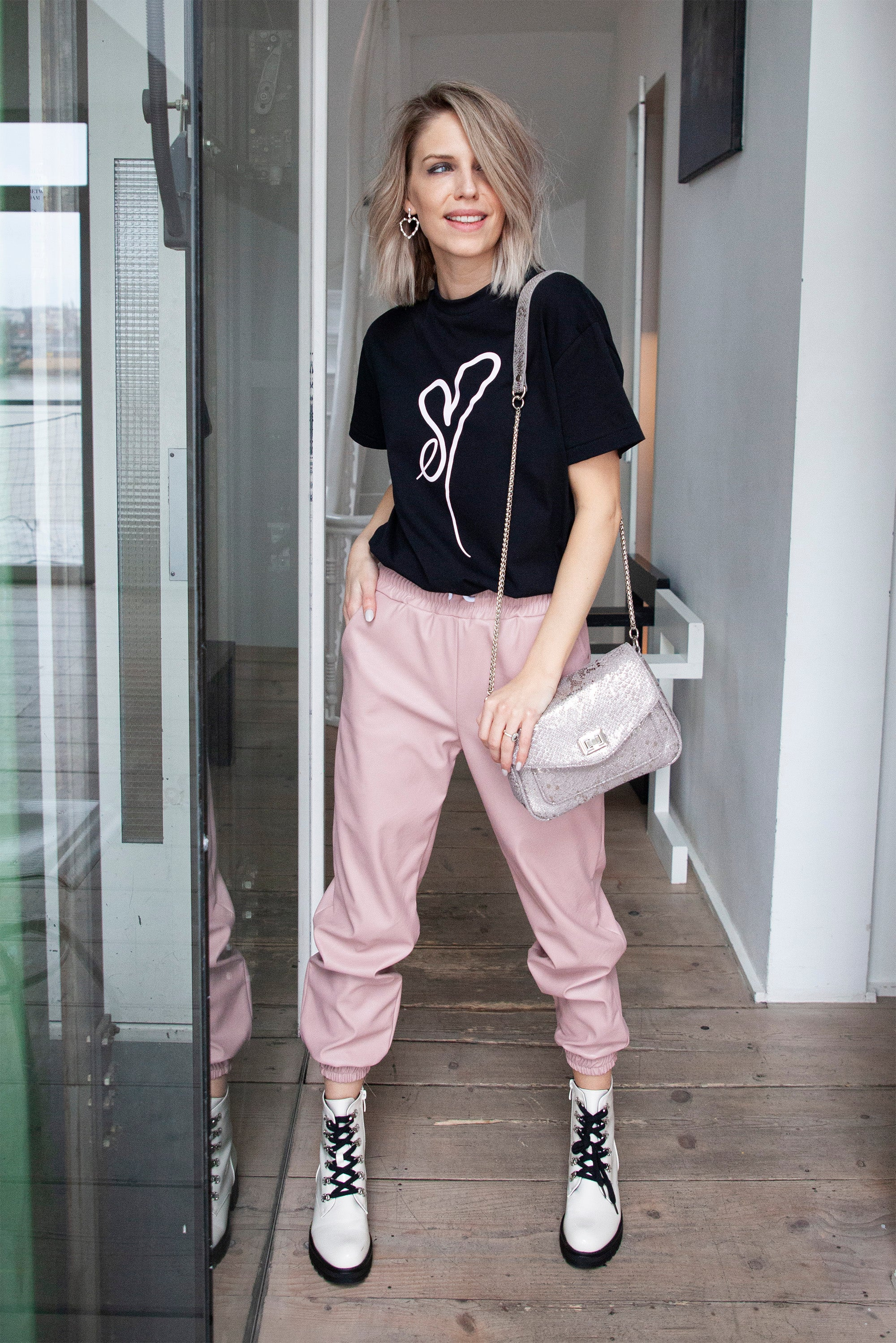 ellemilla ღ KYLIE in Black/Pink - T-shirt