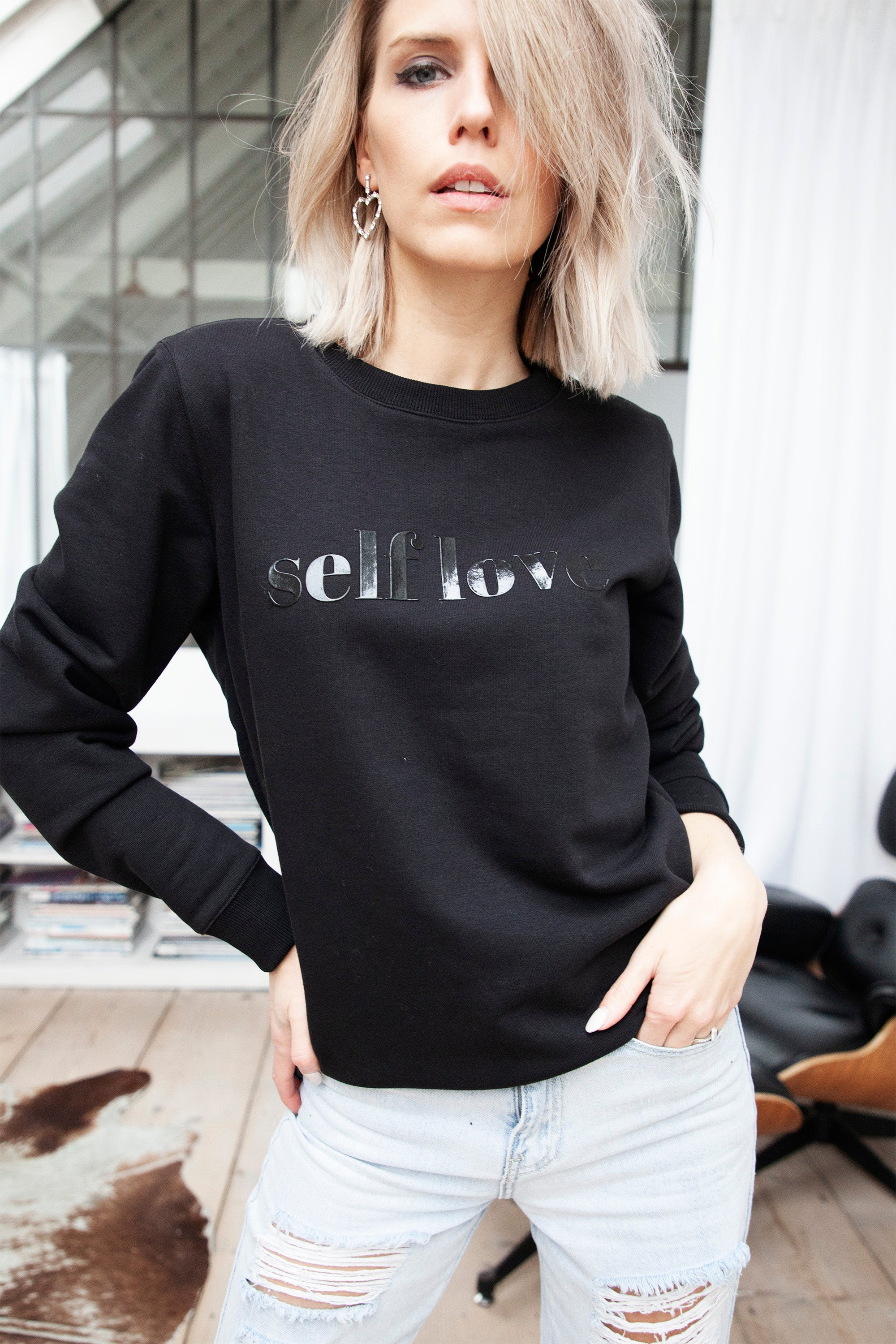 Lovely CHARLY in Black/Black Jelly - Sweater