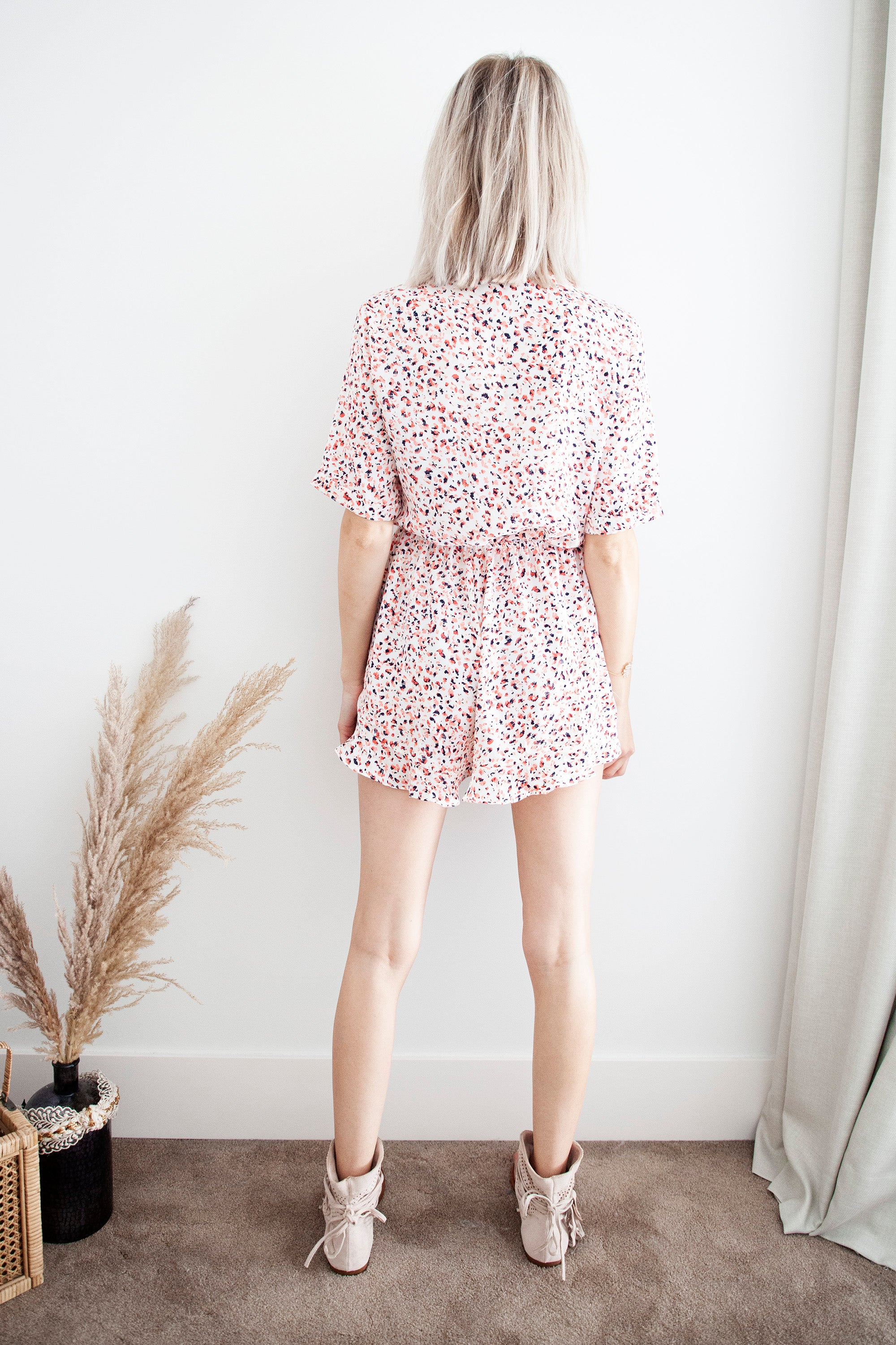 Flamingo Paradise Fuchsia - Playsuit