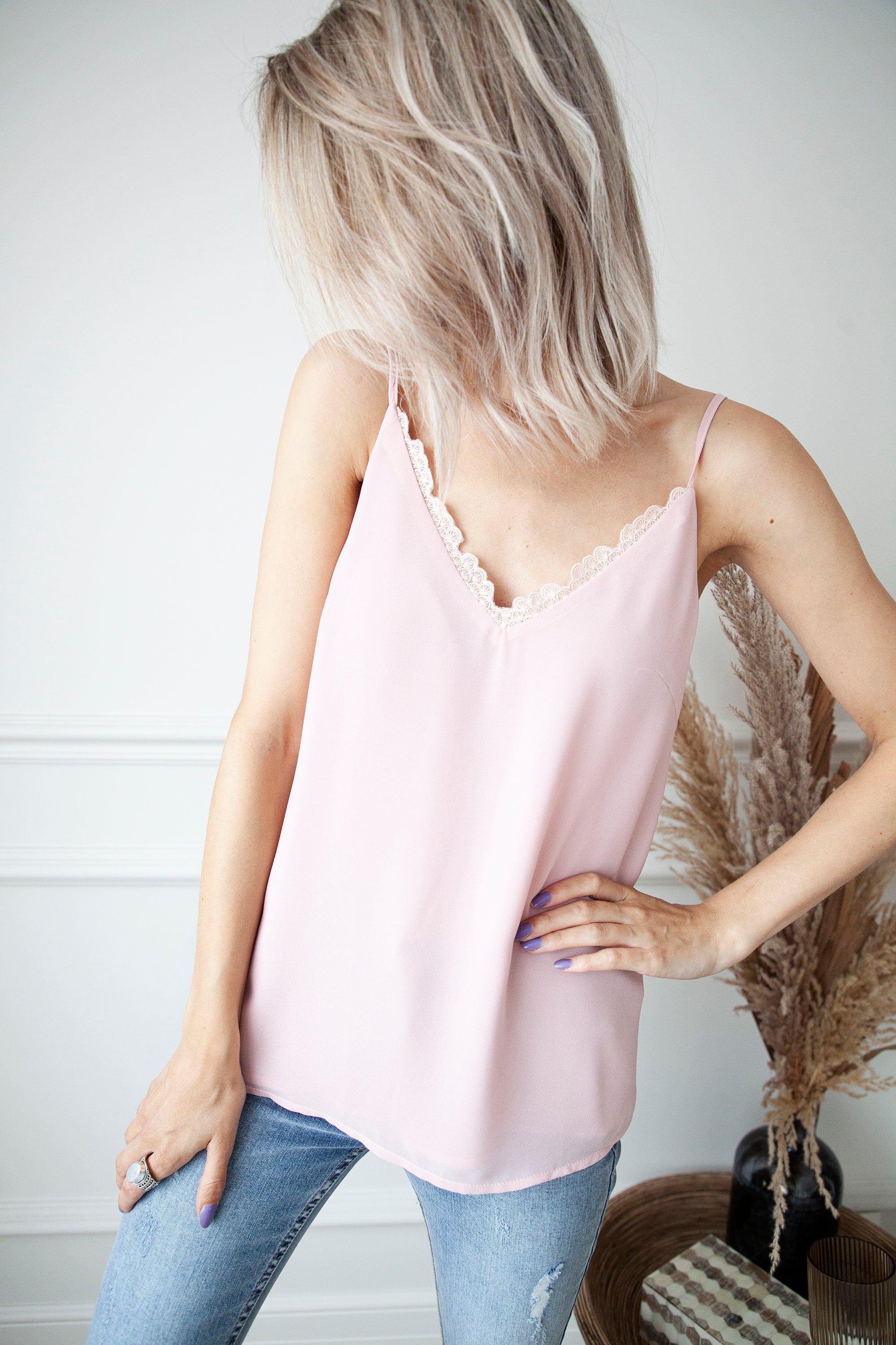Lace On The Edge Pink - Top