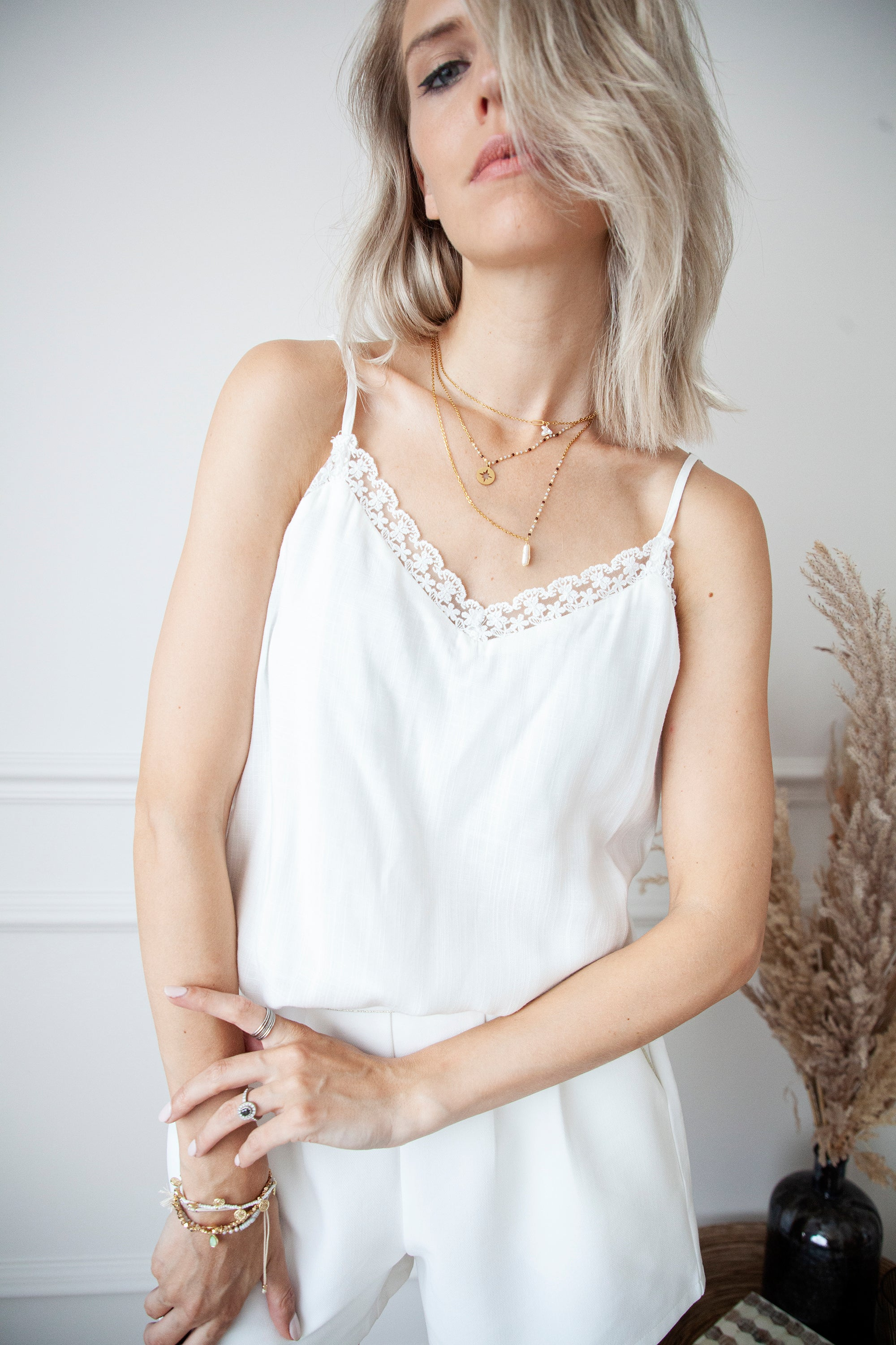 A Whiff Of Lace White - Top