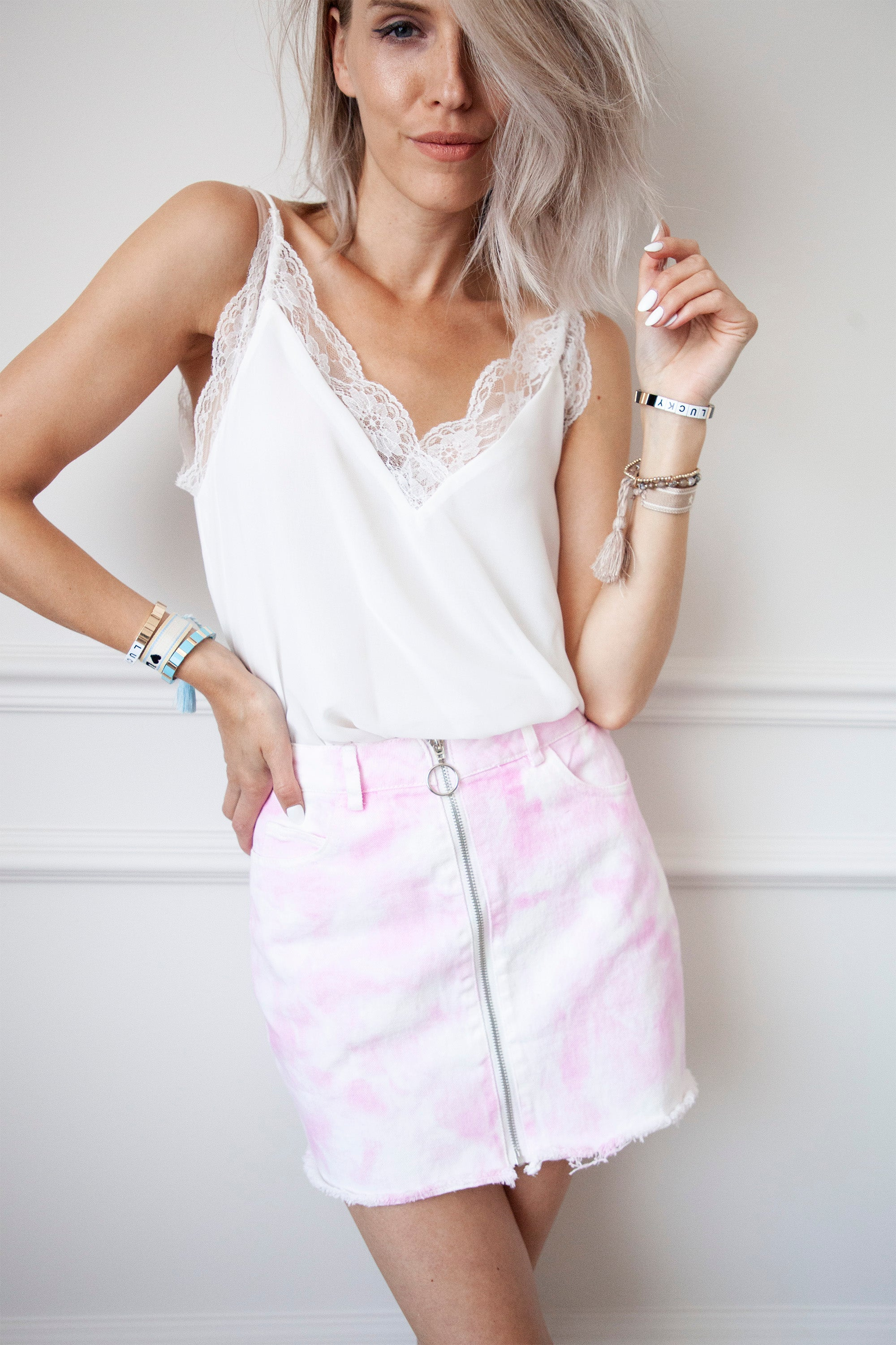 Cotton Candy Tie Dye Pink - Rok