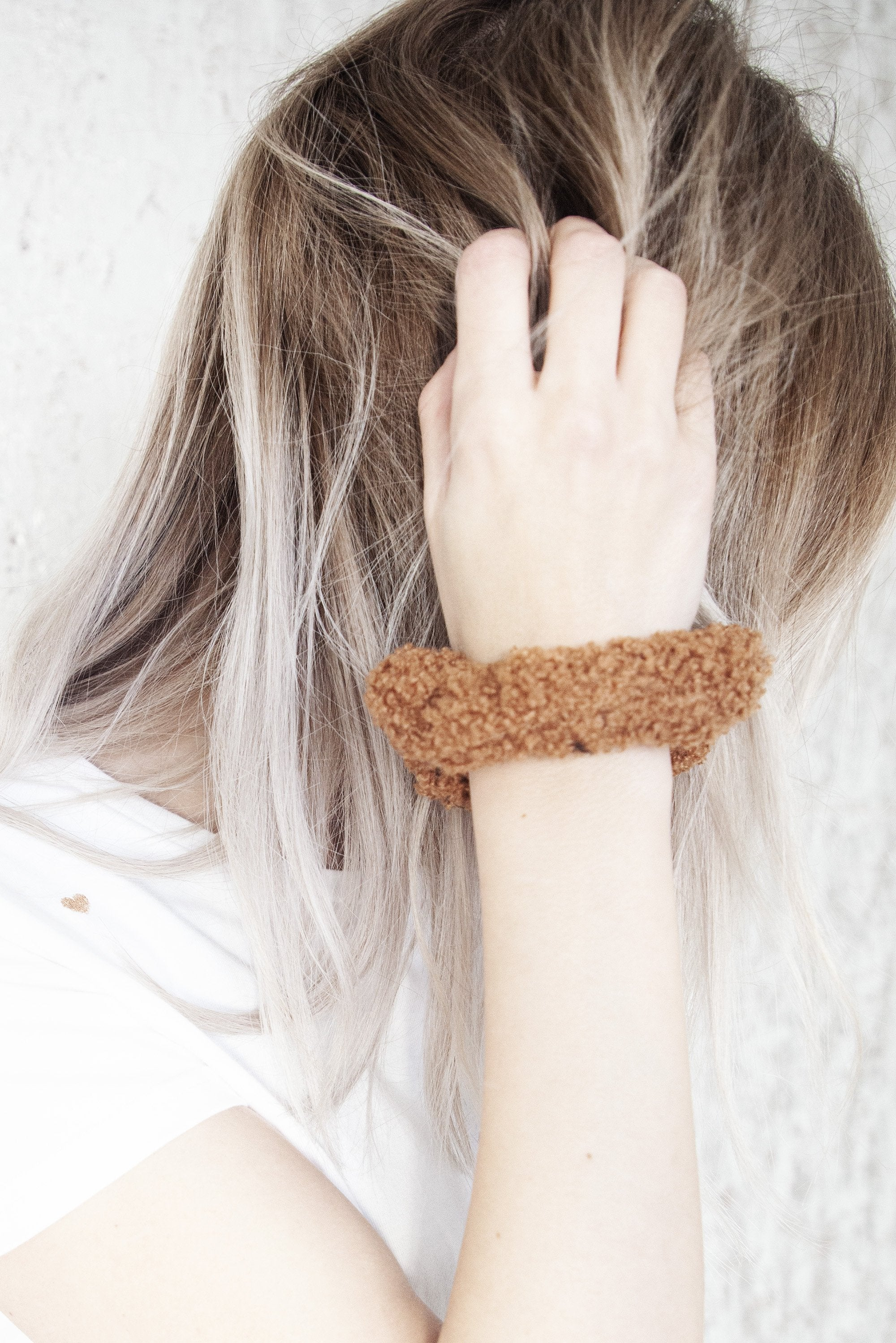 Teddy (B)Hair Camel - Scrunchie