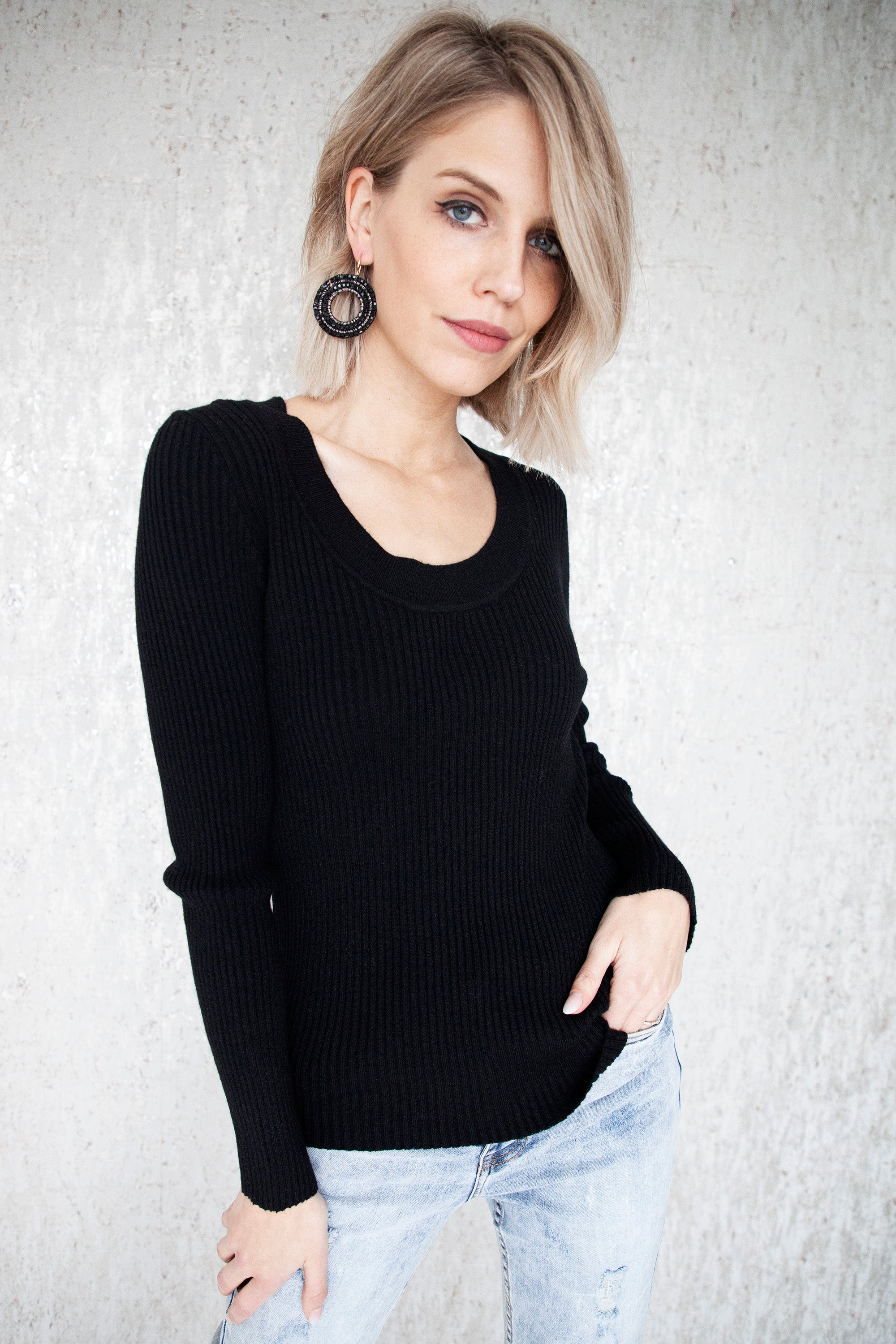 Basic Beauty Black - Longsleeve
