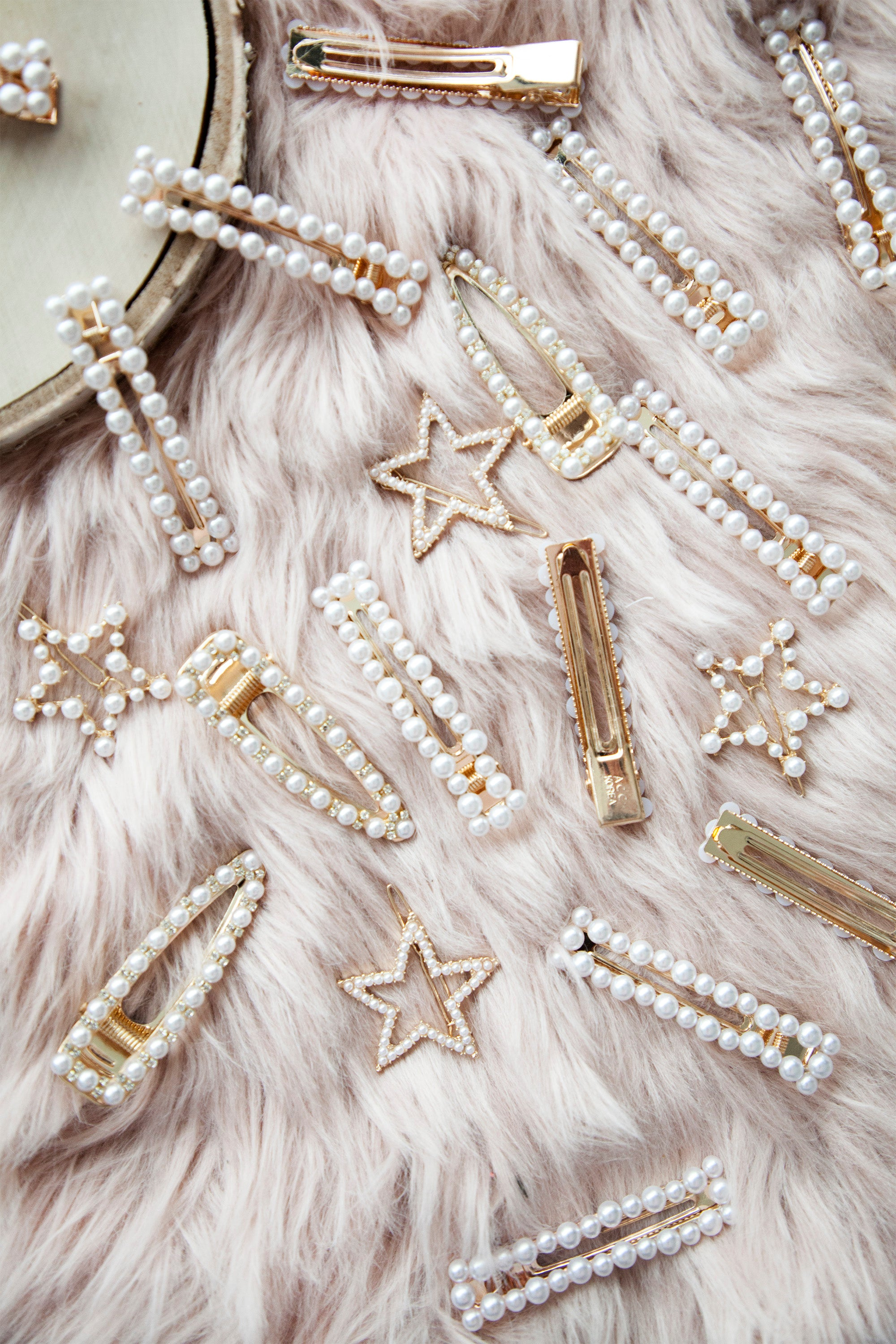 Sweet Pearl Gold - Hair Clips Set/2