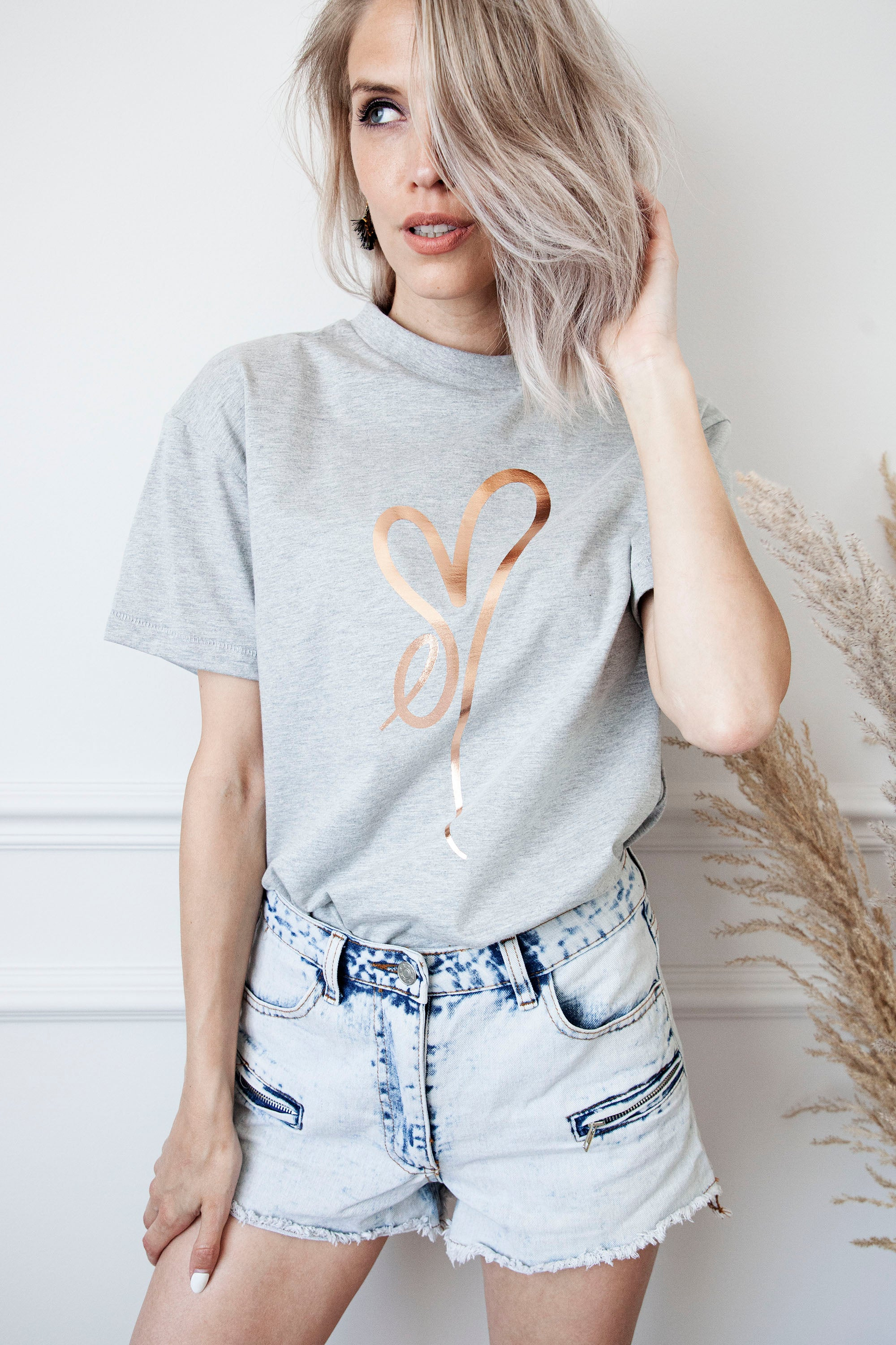 ellemilla ღ KYLIE in Grey/Bronze  - T-shirt