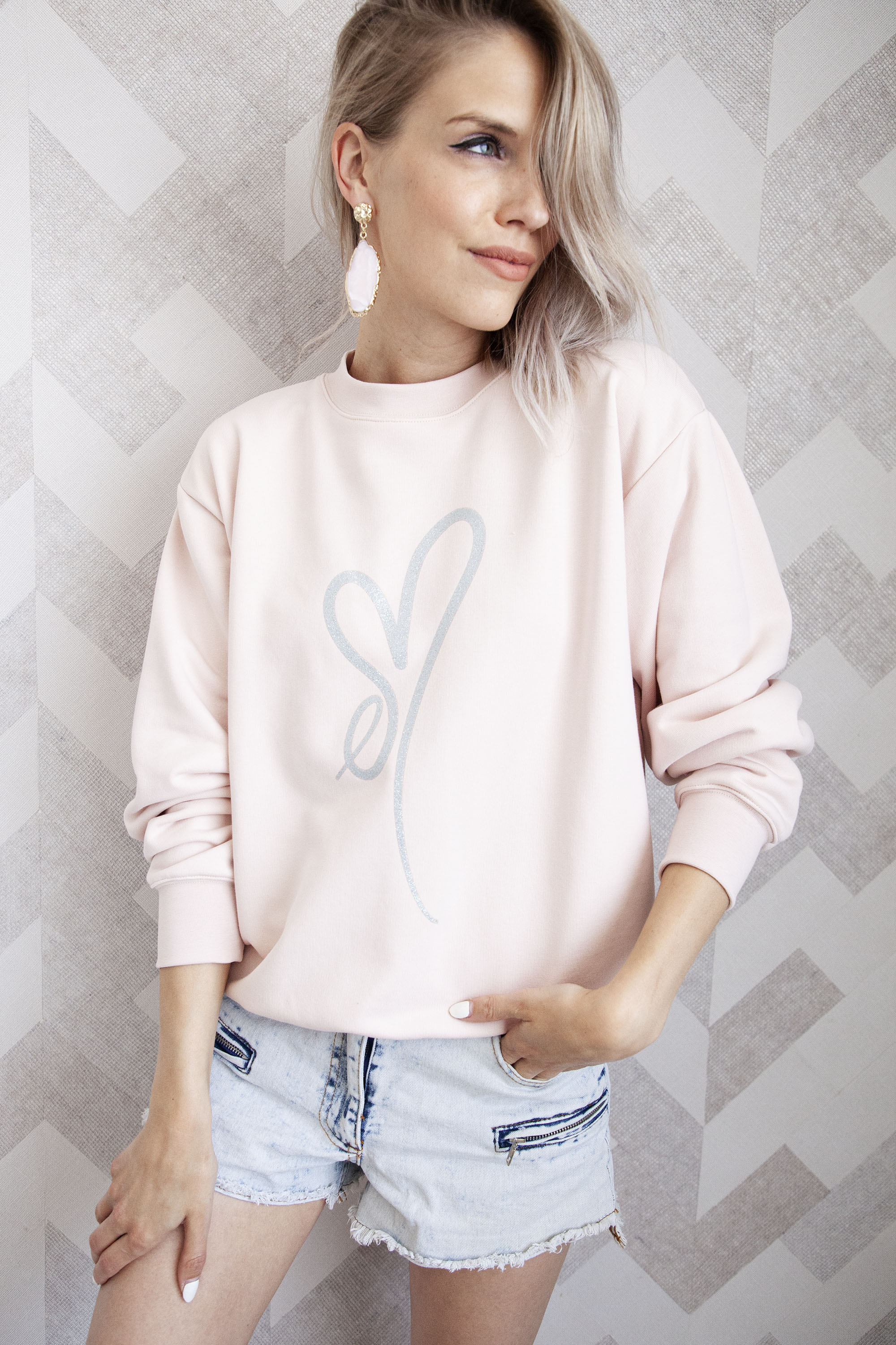 ellemilla ღ ARIA in Pink/Silver Glitter - Sweater