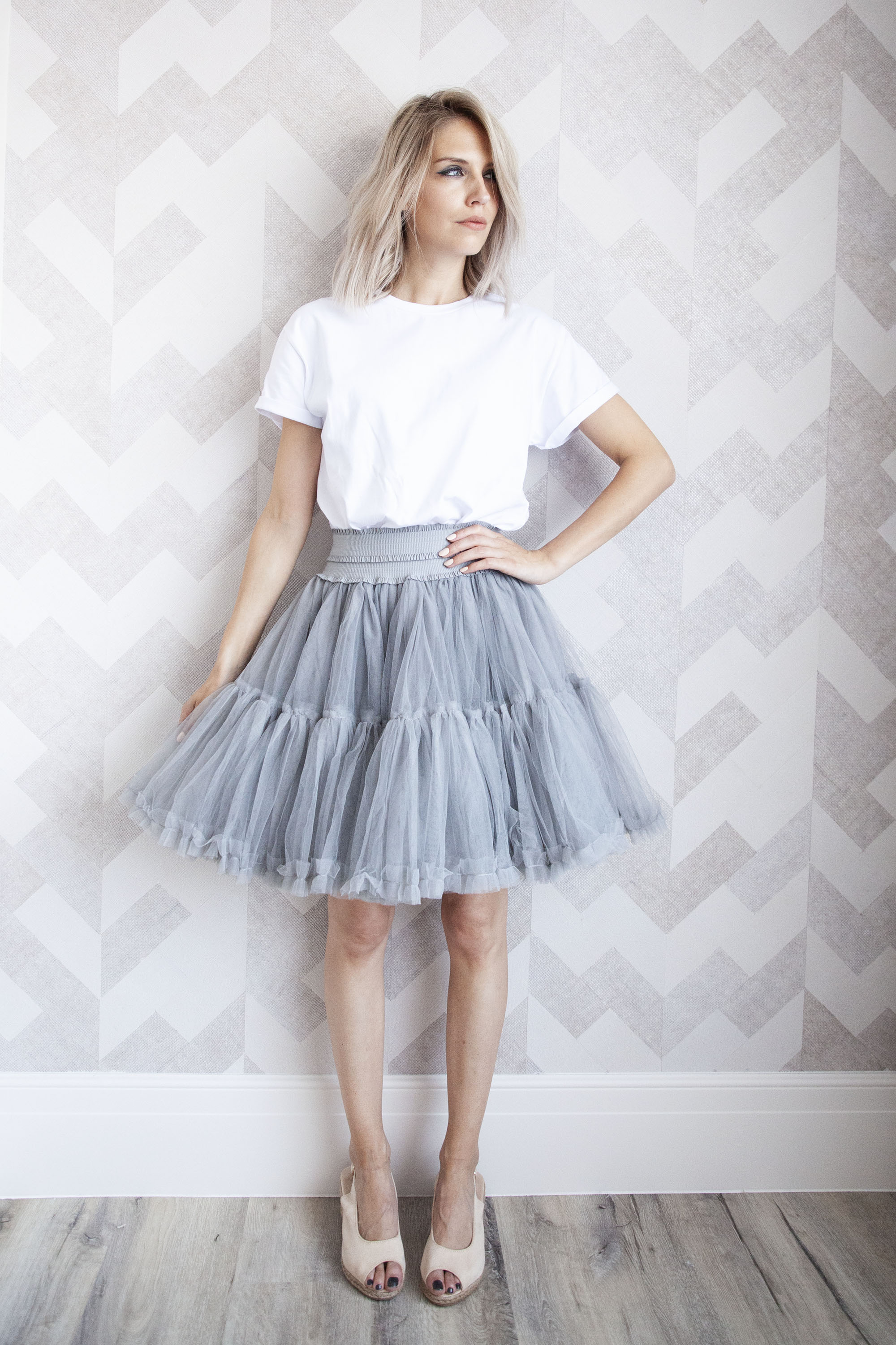 Follow Your Dreams Grey - Mini Rok