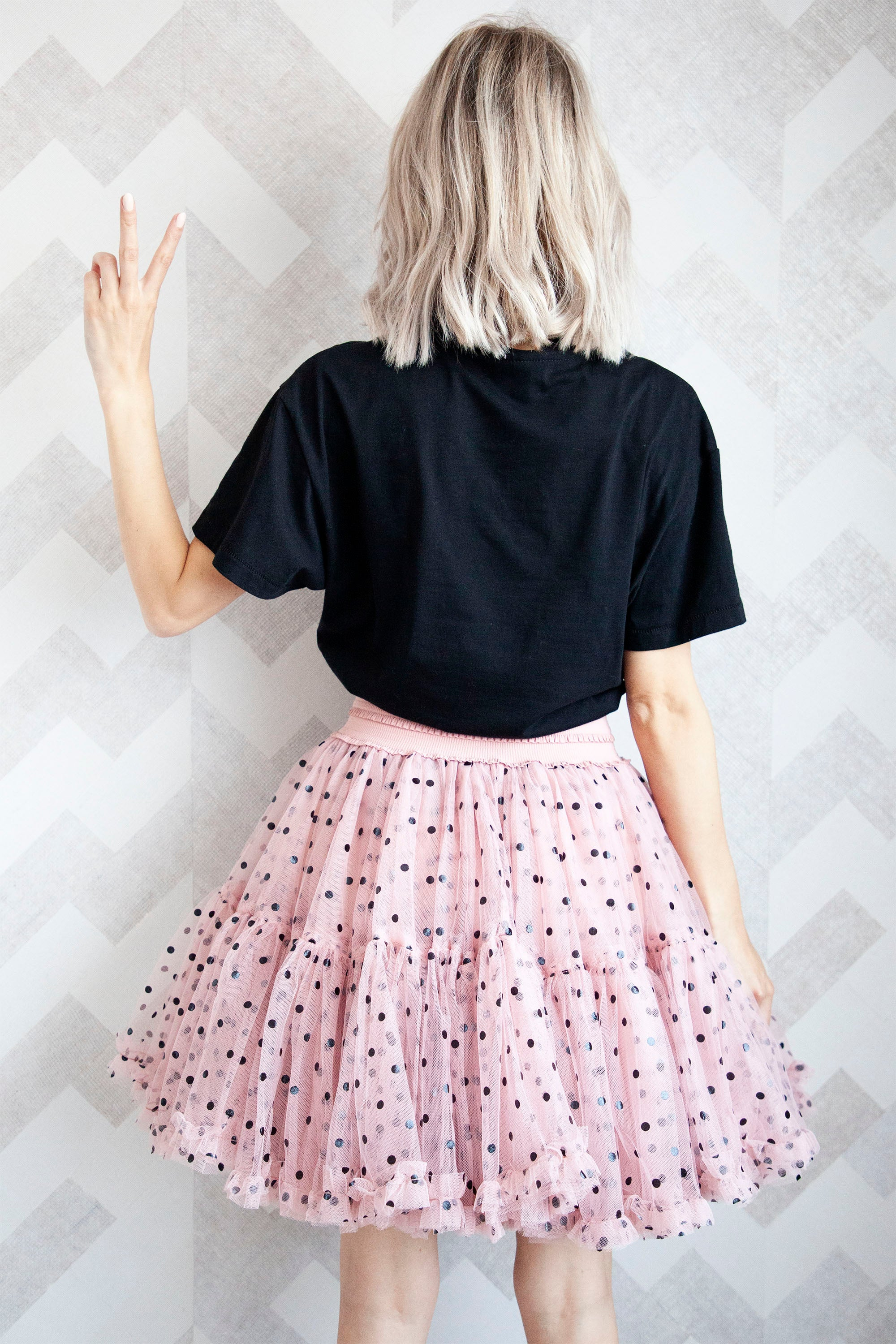 Follow Your Dreams Pink/Dots - Mini Rok