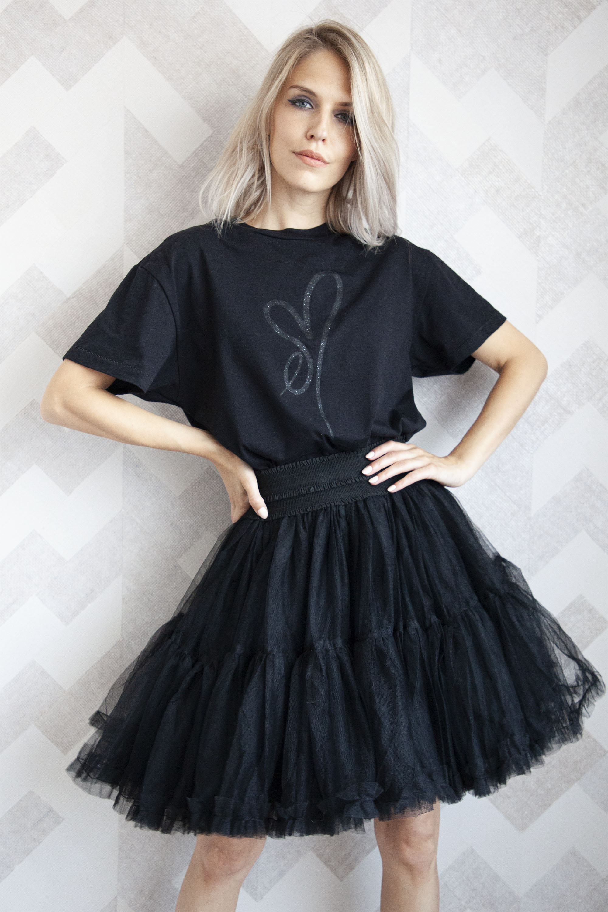 Follow Your Dreams Black - Mini Rok