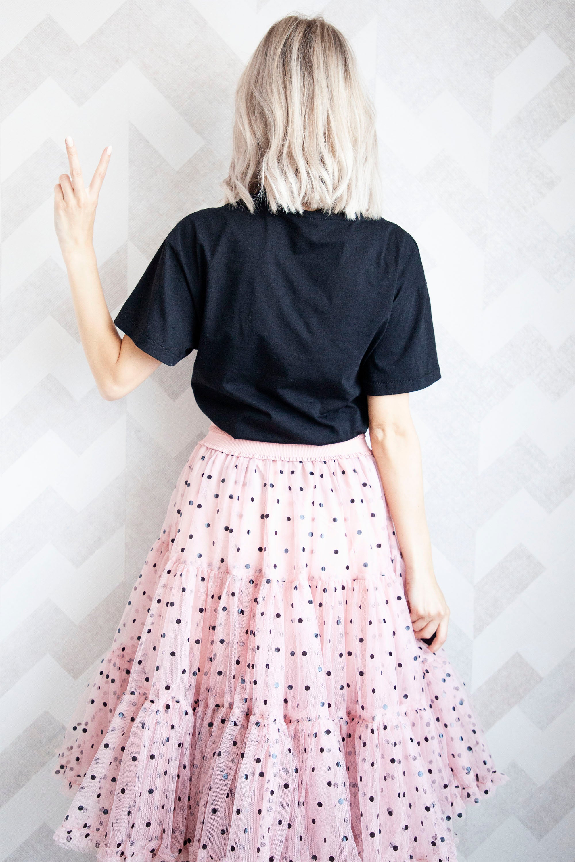 Follow Your Dreams Pink/Dots - Midi Rok