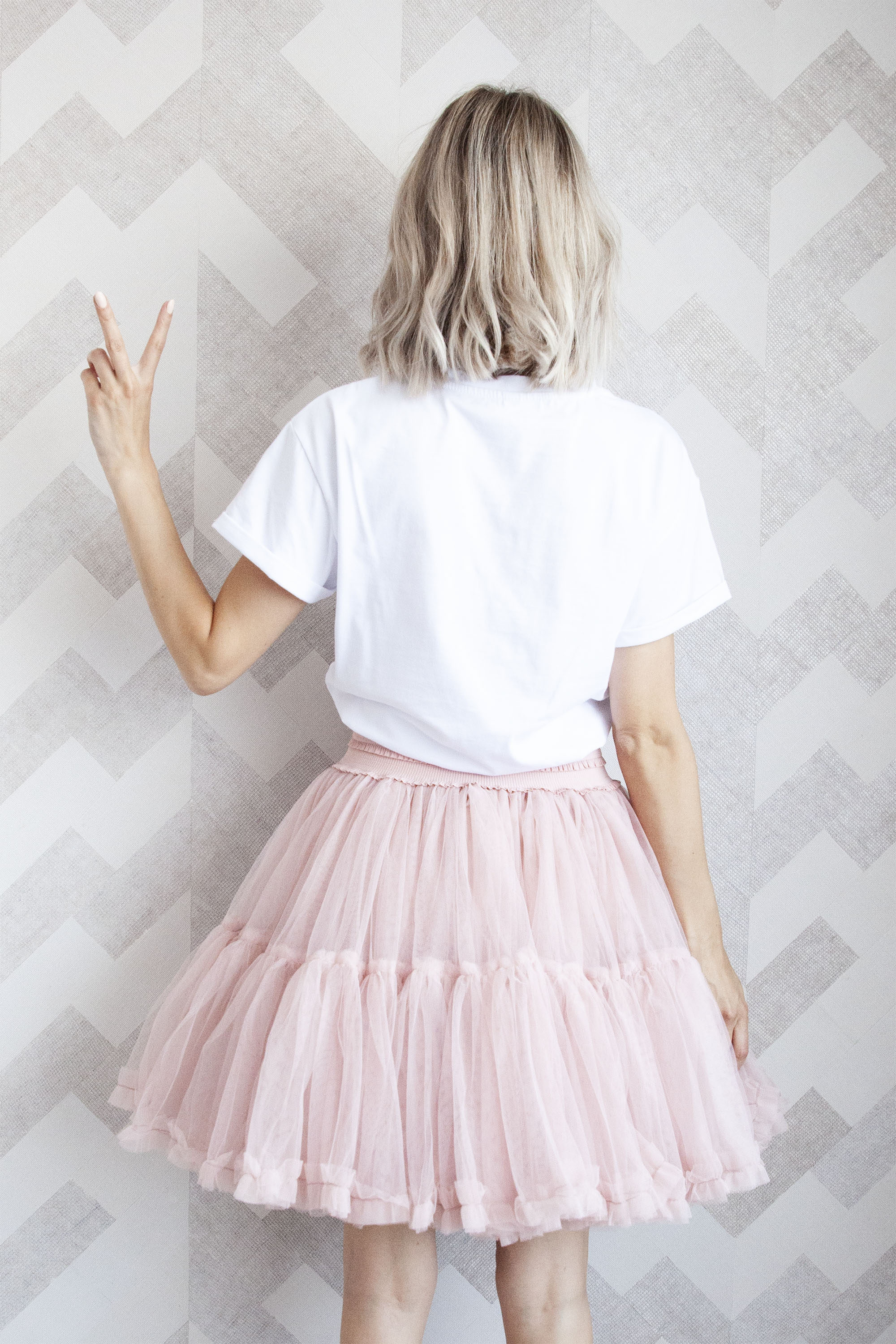 Follow Your Dreams Powder Pink - Mini Rok