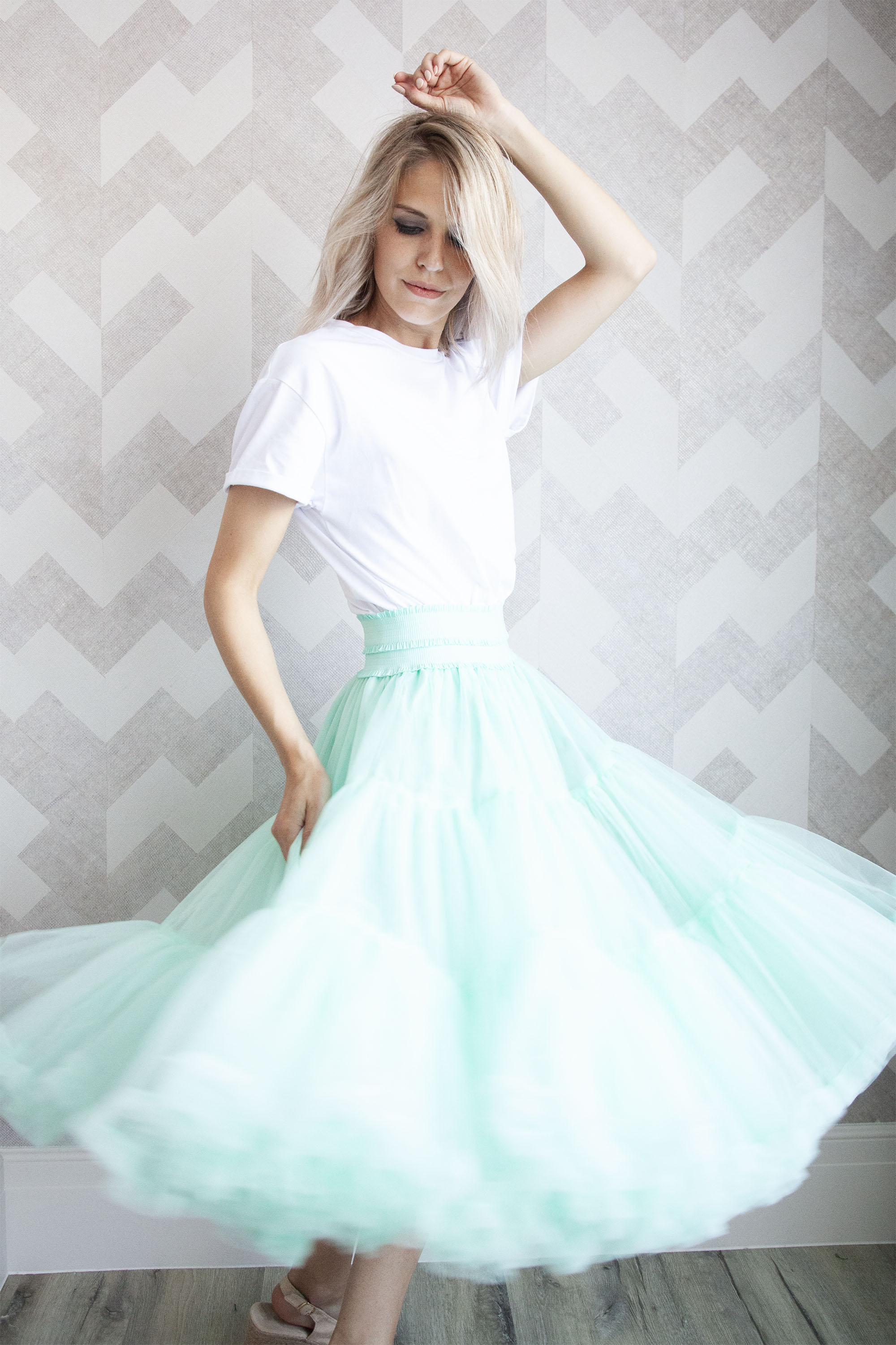 Follow Your Dreams Mint Green - Midi Rok