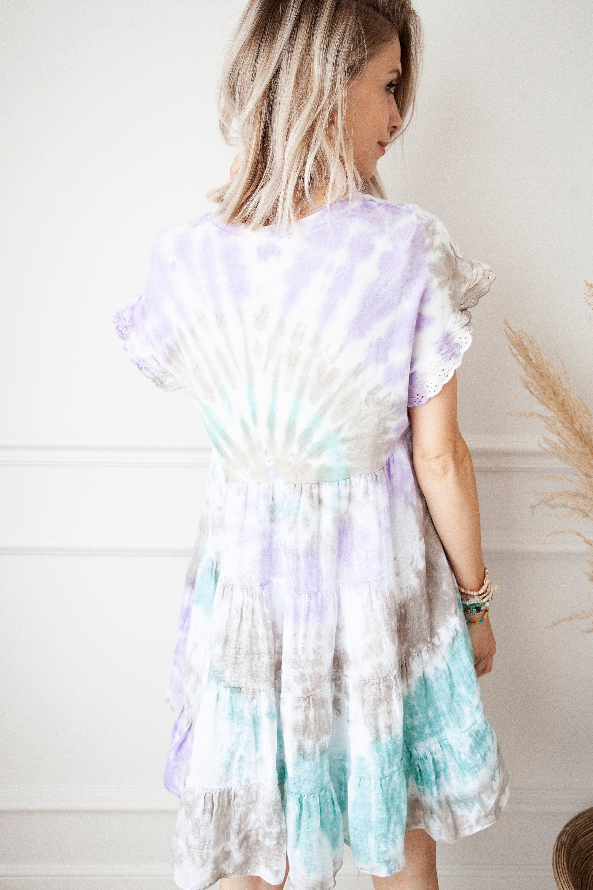 Colors Of Life Tie Dye Lila Mix - Jurk