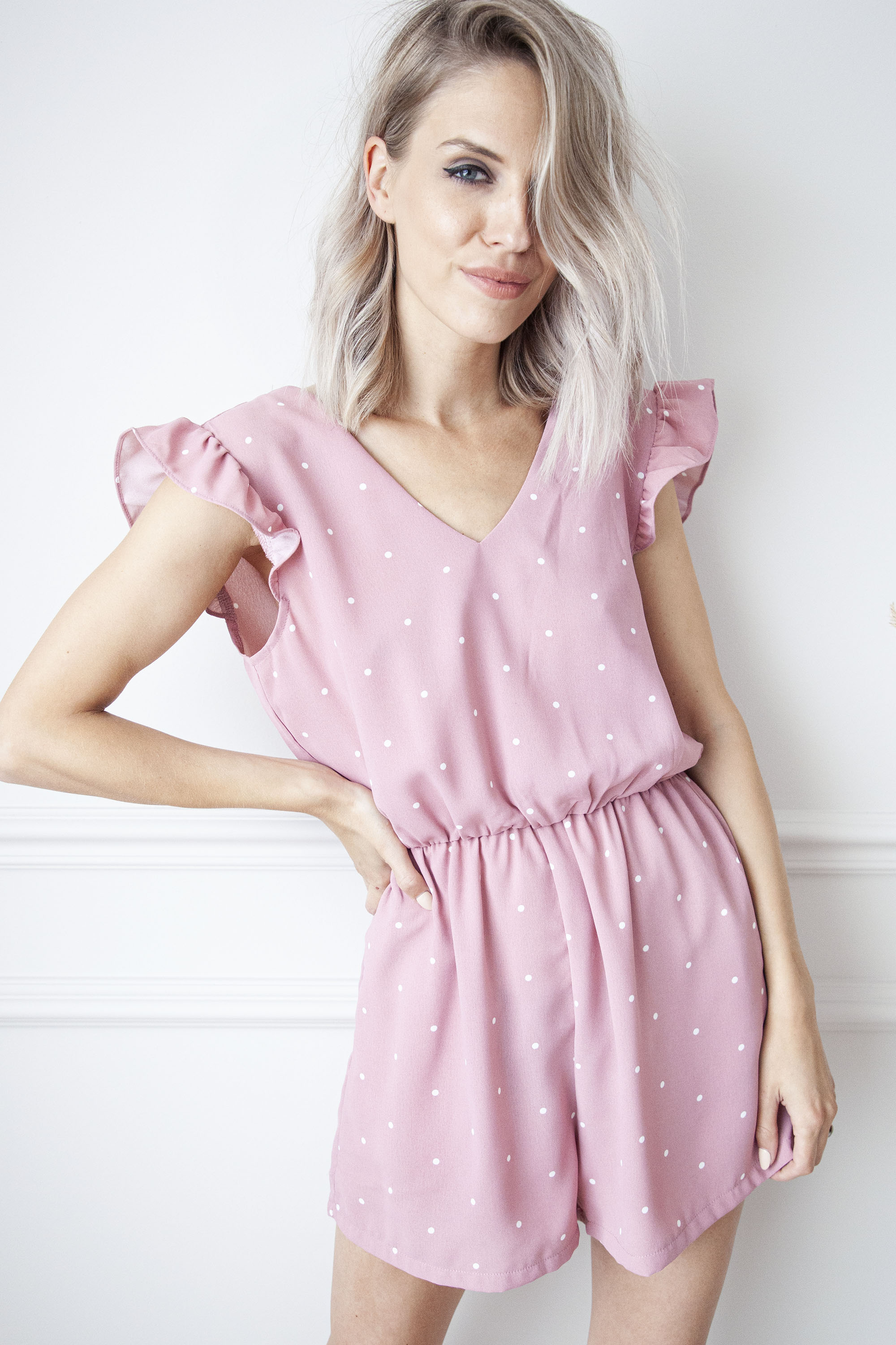 Play With Dots Pink - Playsuit