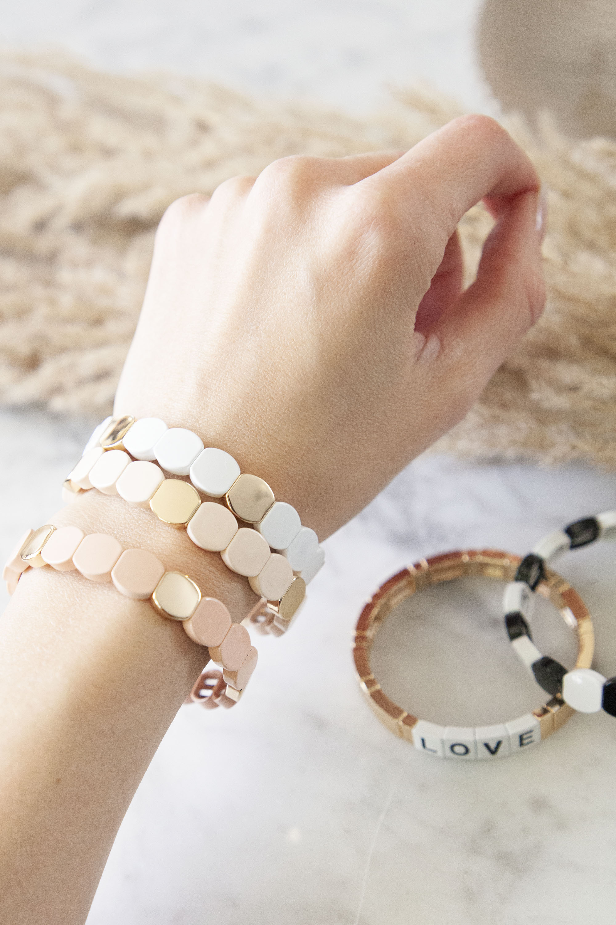 Armcandy White/Gold - Armband
