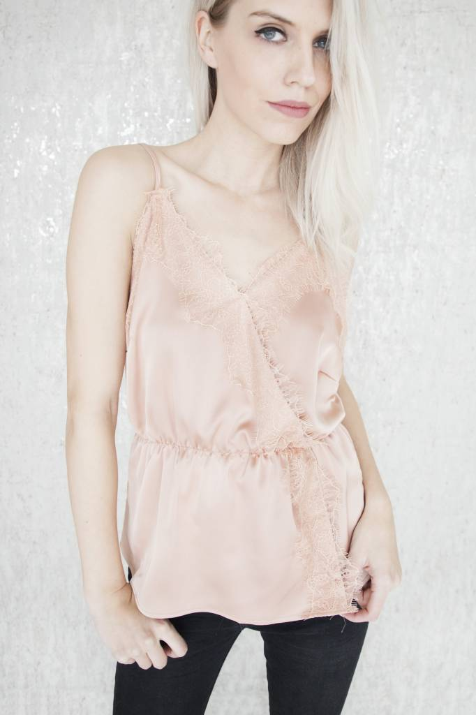 Satin & Lace Pink - Top