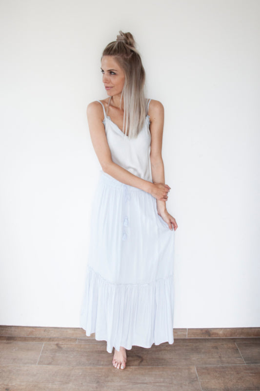 Light & Free Soft Blue - Maxi Rok