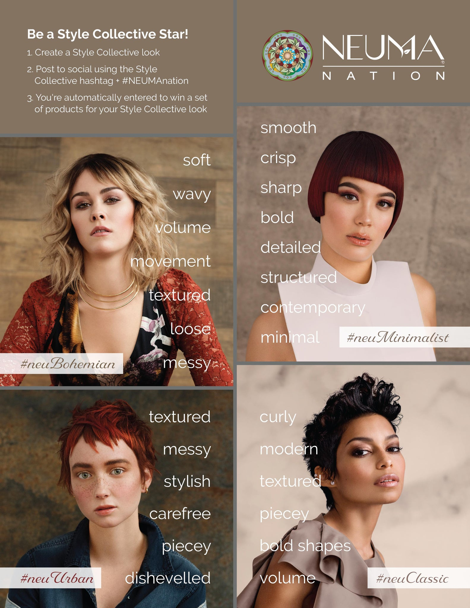 NEUMA nation hair style contest flier