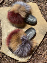 Load image into Gallery viewer, Maroon Fur Slippers