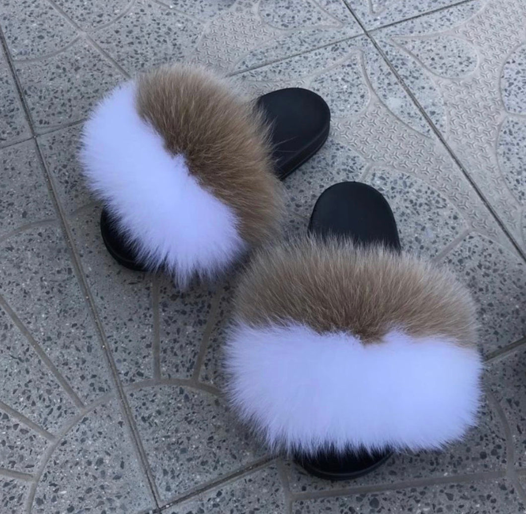 Complicated Fur Slippers