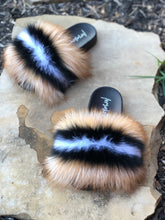 Load image into Gallery viewer, S'mores Fur Slippers