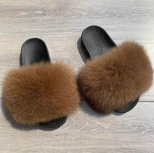 Gingerbread Fur Slippers