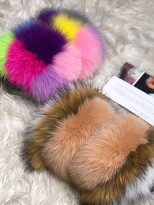 French Vanilla Fur Slippers