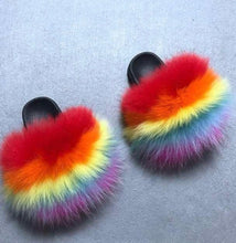 Load image into Gallery viewer, Kids Rainbow Slippers