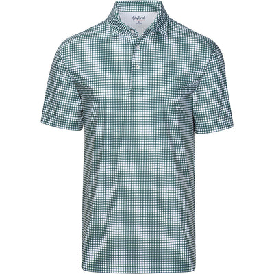 GORDON GINGHAM PRINTED JERSEY POLO