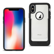 Load image into Gallery viewer, Reiko Iphone X Belt Clip Polymer Case In Clear Black