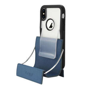 Reiko Iphone X Belt Clip Polymer Case In Clear Black