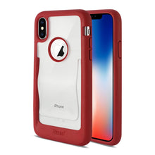 Load image into Gallery viewer, Reiko Iphone X Belt Clip Polymer Case In Clear Red