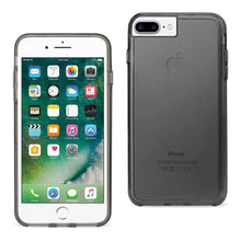Load image into Gallery viewer, Reiko Iphone 7 Plus Transparent Tpu Hard Protector Cover With Inner Extra Bumper In Clear Gray