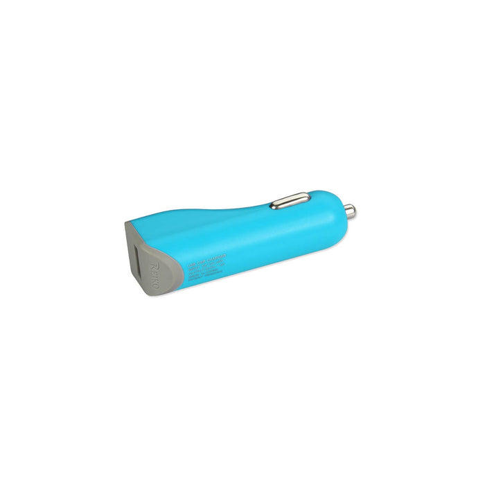Reiko Micro Usb Car Charger With Data Usb Cable In Blue